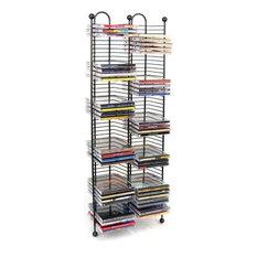 Atlantic Inc - Atlantic Inc 100 Nestable CD Storage Tower, Gunmetal - Media Racks and Towers