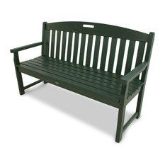 "Trex Outdoor Furniture Yacht Club 60"" Bench, Rainforest Canopy"