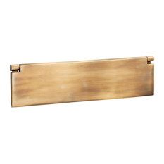 Internal Letter Box Flap, 295mm, Antique Satin Brass