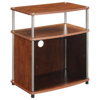 TV Stand With Black Glass Cabinet