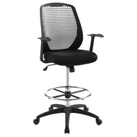 Intrepid Mesh Drafting Chair in Black