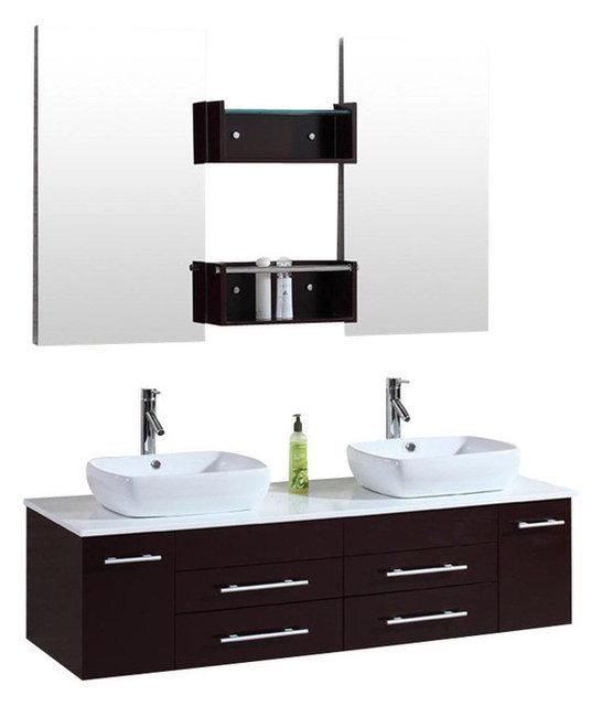 sink for bathroom vanity. 60  Wall Mount Floating Inch Double Sink Bathroom Vanity Espresso