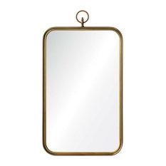 Renwil Coburg Round Decorative Mirror, Brass