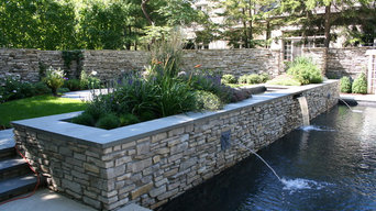 Pool and Reflecting Pond with Natural Stone Elements