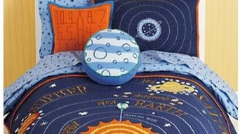 Kids Blue Solar System Bedding