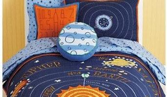 Kids Blue Solar System Bedding