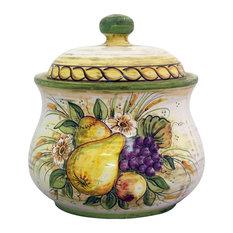 BOTTEGA DEGLI ARTISTI - Contoured Cookie Jar With Incanto Adornment - Kitchen Canisters And Jars