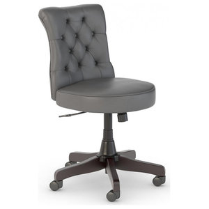 Mayfield Mid Back Tufted Office Chair Transitional Office Chairs By Bush Industries
