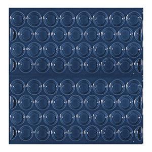 Adobe Textured Subway Tiles, Blue, Set of 11