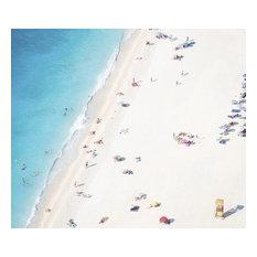 """""""Aerial View of a Mediterranean Beach # 5"""" 31.25x43.25 Photo Paper Print"""