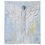 """Pixels - Angel Beside You, Angel Blanket, 50""""x60"""", Plush Fleece - """"Angel Beside You"""" Fleece Blanket. ~ An Angel to provide you comfort and warmth."""