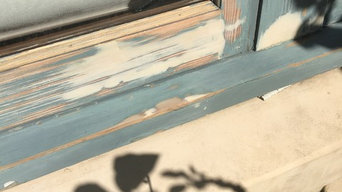 sand, repair, repaint house exterior windows