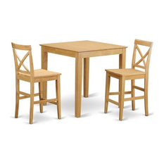3-Piece Counter Height Table, Pub Table And 2 Counter Height Chairs