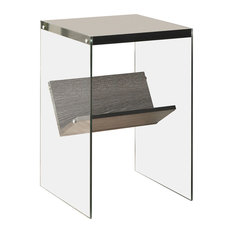 Convenience Concepts   Soho End Table, Weathered Gray   Side Tables And End  Tables