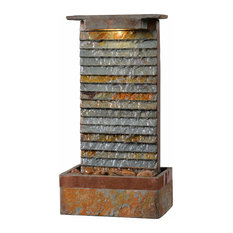 Stave Table Fountain, Slate and Copper