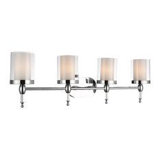 "6"" 4-Light Wall Sconce With Chrome Finish"