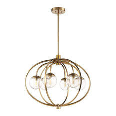 Craftmade Piltz 6-Light Chandelier, Satin Brass