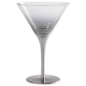 Silver Martini Glasses, Set of 4