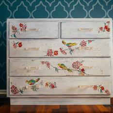 - Hand-painted Bird Dresser - Dressers