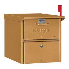 Designer Roadside Mailbox, Brass