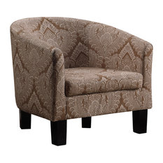 Livermore Barrel Chair, Amber Brown