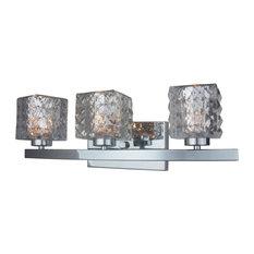 Woodbridge Lighting 16353-C80414 Charlotte Vanity Light Bathroom Fixture, Chrome