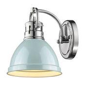 Golden Duncan 1-LT Bath Vanity Light 3602-BA1 CH-SF - Chrome