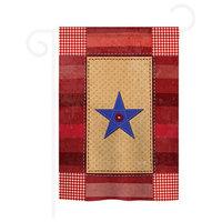 "One-Star Service 13""x18.5"" Usa-Produced Home Decor Flag"