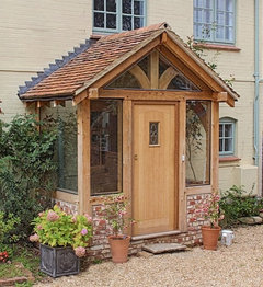 Solid oak porch for Traditional house designs uk