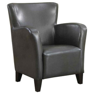 Contemporary Club Chair in Charcoal Gray