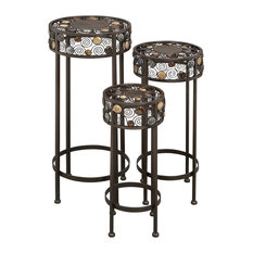 Theodora Round Pedestals, Set of 3