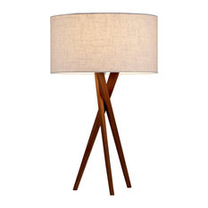 Adesso Brooklyn 1 Light Table Lamp Walnut Lamps