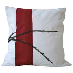 Branch Painted Cushion Cover, 40x40 cm