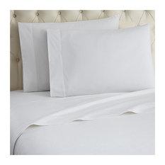 Micro Flannel Sheet Set, White, Twin
