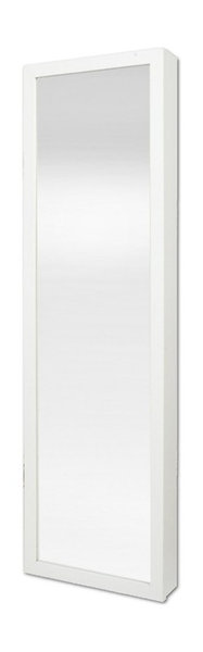 Plaza Astoria Wall-Mount Jewelry Armoire, Vanity Mirror, White