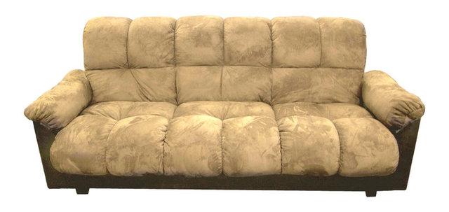 London Storage Futon Sofa Bed With Champion Fabric Beige