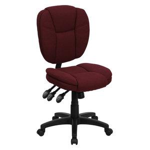 Astounding Aberdeen Mid Back Black Fabric Ergonomic Swivel Office Task Pdpeps Interior Chair Design Pdpepsorg