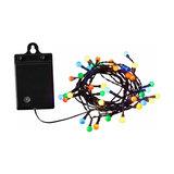Colourful 40-bulb LED string lights RGB, batteries