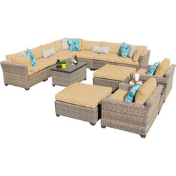 Luxury Contemporary Outdoor Lounge Sets Hampton Piece Outdoor Wicker Patio Furniture Yellow Set a