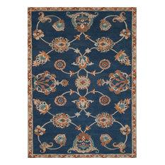 Jaipur   Classic Oriental Pattern Wool Reverie Area Rug, Blue Coral, 5u0027x8