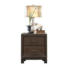 HEFX Furniture - Banner Industrial Nightstand, Rustic Brown - Nightstands and Bedside Tables