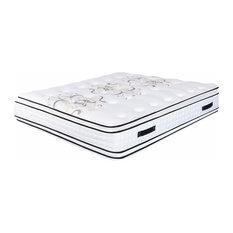 "Orthopedic Mattress 17.5"" Plush Memory Foam Pillow-Top Double Sided, Queen"