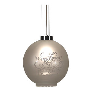 Expo S1 Steel and Glass Pendant Light