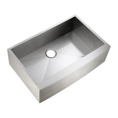 """Luxier - Luxier AFS33-18Z Stainless Steel Farmhouse Apron Single-Bowl Sink, 33"""" - Kitchen Sinks"""