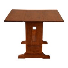 Mission Solid Oak Drop Leaf Dining Table - Michael's Cherry (MC1)