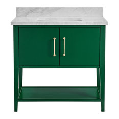 Bergen Emerald Green Bathroom Vanity, 36""