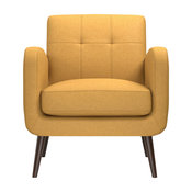 Kenneth Mid Century Modern Arm Chair, Mustard Yellow