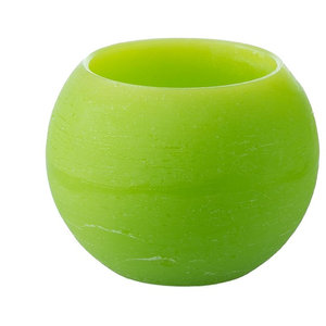 Paraffin Eternity Candle Bowl, Lime Green, Set of 2
