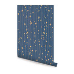 Leaves Reusable Wallpaper, Navy, 1 Sheet