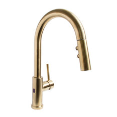 Neo Sensor Pull Down Kitchen Faucet, Brushed Brass